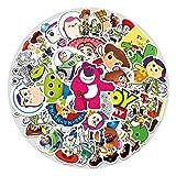 BAIMENG Anime Toy Story etiqueta de dibujos animados caja de equipaje nevera piano guitarra coche graffiti pegatina 53 piezas