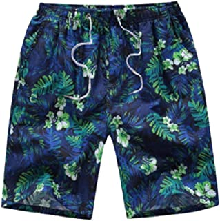 MogogoMen Surf Board Boxer Plus-Size Half Pant Quick Dry Beach Board Shorts