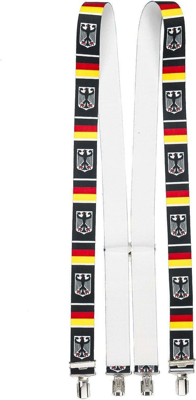 Shenky German Suspenders 4 Sturdy Clips Braces Bavaria X Shape