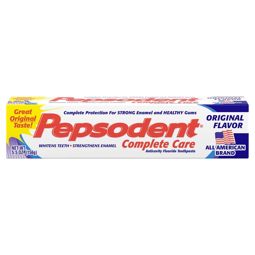 Pepsodent Complete Price reduction Care Toothpaste Original Pack 5.5 Denver Mall oz Flavor