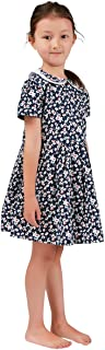 Girls Dresses French Style Vintage Liberty Print Pure Cotton Spring Autumn Garden Dresses 3-12 Years