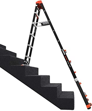 Little Giant Ladders, Select Step, 6 to 10 ft, Adjustable Step Ladder, Fiberglass, Type IAA, 375 lbs weight rating, (15131-00