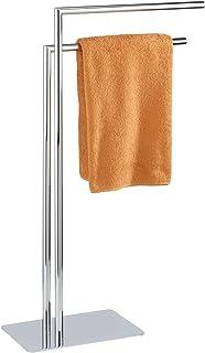 WENKO Wieszak na ręczniki Recco z 2 ramionami - stojak na ubrania, stal, 48 x 80,5 x 20 cm, chrom