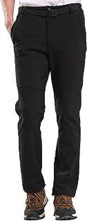 Elonglin Men's Outdoor Softshell Warm Ski Hiking Pants Fleece Trousers Windproof Waterproof Winter Climbing Camping Pants