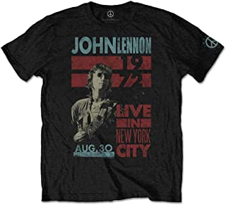 John Lennon Live in NYC T-Shirt Homme