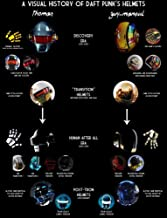 NOVELOVE Immagine di Arte della Parete Daft Punk The Weeknd Starboy Rapper Poster Stampa su Tela Senza Cornice 40 60cm