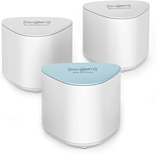 SimpliNET2 Whole Home AC2100 Mesh WiFi System with Firewall Network Defense, 3-Pack (1 Router + 2 Extenders)