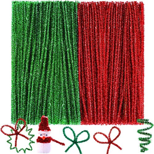 Glitter Pipe Cleaners, Red and Green
