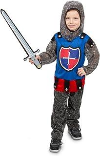 Costume Carnevale Cavaliere con cappa Carnevale Cavaliere Costume Bambini Giovani 116 128 140