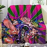 Darkt JoJo's Bizarre Jolyne Josuke Adventure Luxury Throw Blanket Flannel Air Conditioning Blankets for Bed Sofa Home Decor Office Travel Gifts 60x50 Inch for Teens