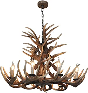 Antler chandeliers American Pastoral Restaurant Lights Cafe Clothing Store Hotel Lobby Art Retro Resin Lamps 9