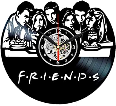 Friends TV Show Series Vinyl Record Black Wall Clock Art Decor Birthday Gifts