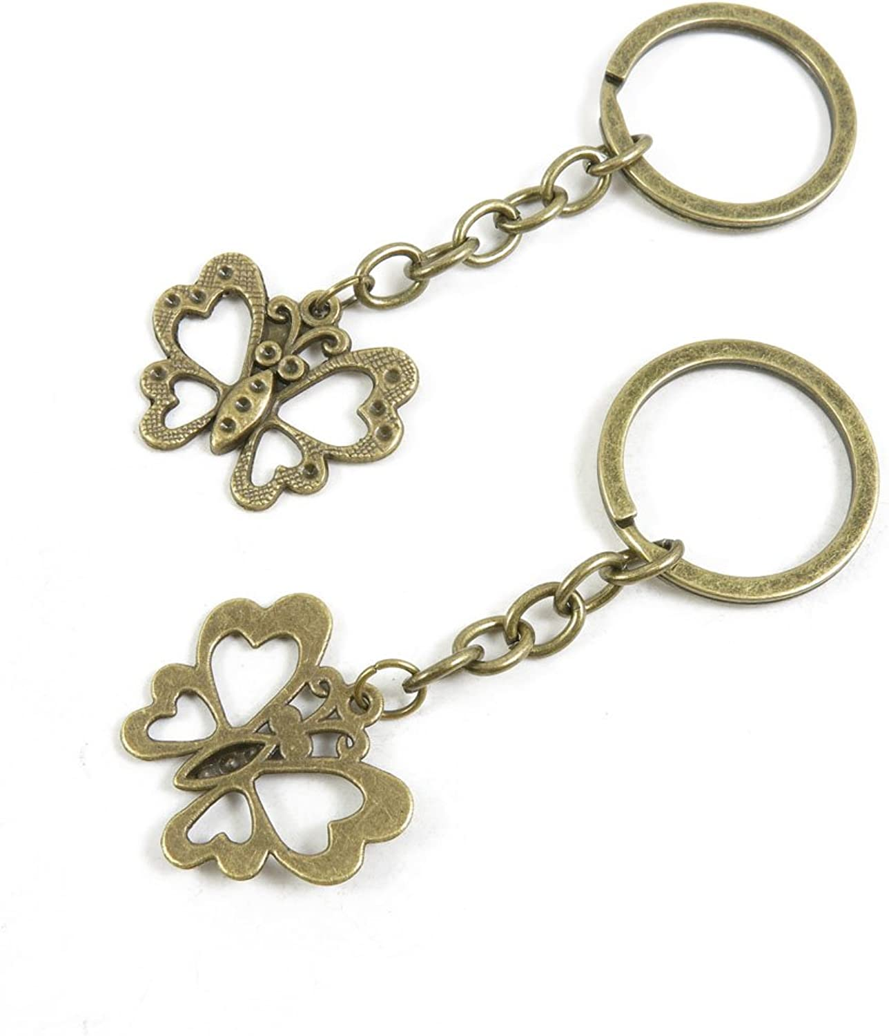 210 Pieces Fashion Jewelry Keyring Keychain Door Car Key Tag Ring Chain Supplier Supply Wholesale Bulk Lots W7SE1 Butterfly