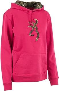 Women's Browning Camo Buckmark Hooded Sweatshirt, Fuchsia, XL
