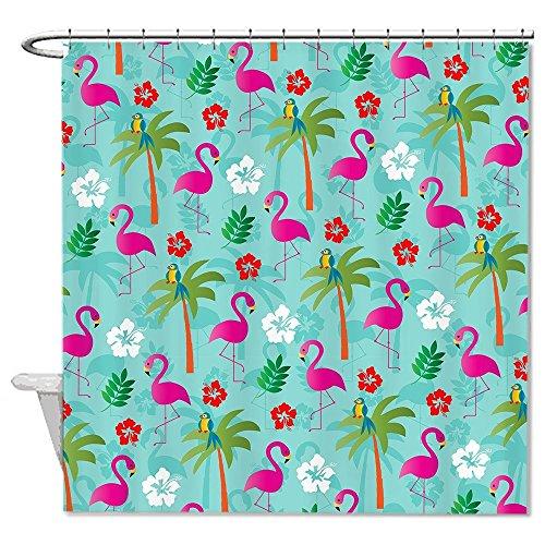 rioengnakg Flamingo & Hibiskus Watercolor Muster Polyester Duschvorhang Liner Mehltau wasserdicht bis, Polyester, #1, 66