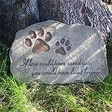jinhuoba Dog Memorial Stone, Indoor Outdoor Dog or Cat for Garden Backyard Marker Grave To...