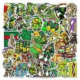 SHUYE Anime Teenage Mutant Ninja Turtles Valigia Laptop Phone Tablet Skateboard Chitarra Adesivi Impermeabili 50 Fogli