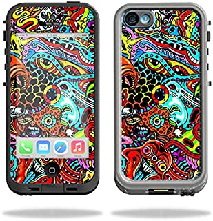 MightySkins Protective Vinyl Skin Decal Compatible with LifeProof iPhone 5C Case fre Case wrap Cover Sticker Skins Acid Trippy