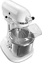 KitchenAid Pro 500 Series 10-Speed 5-Quart Stand Mixer, White (Renewed)