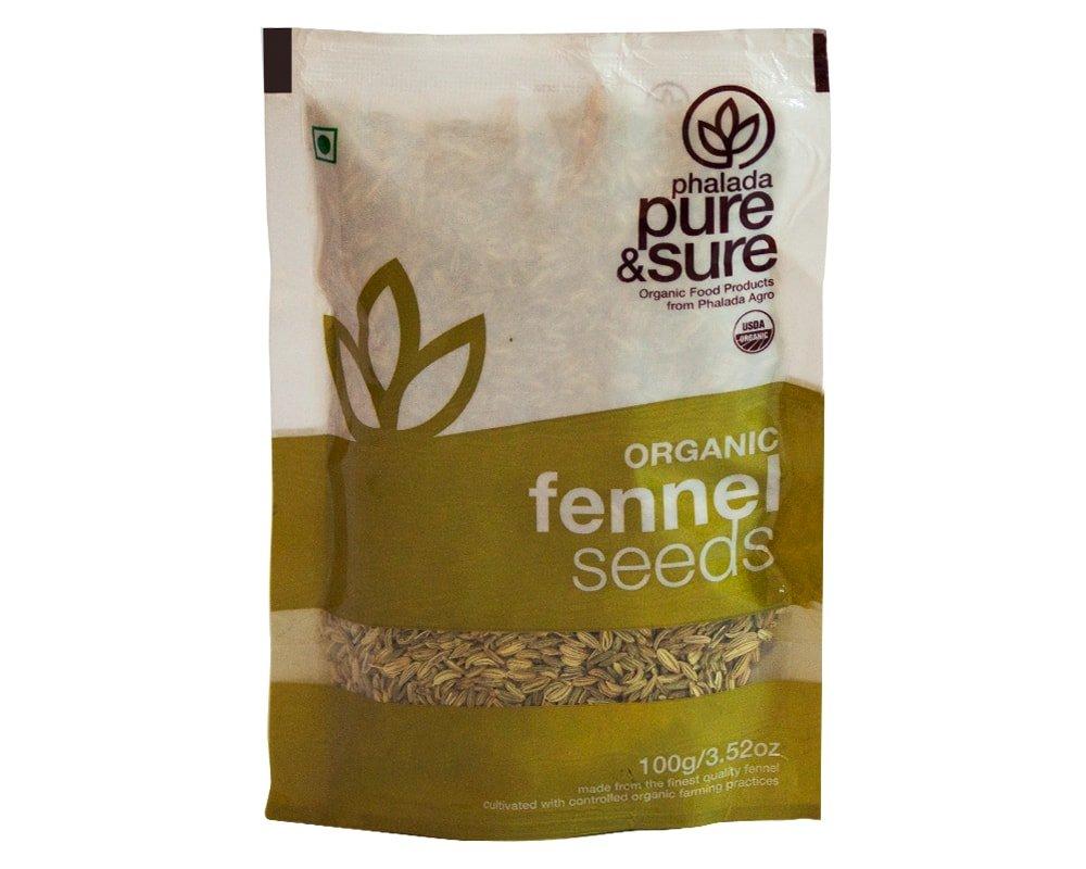 Phalada - Pure Sure Organic Gm Max 81% OFF Super intense SALE 100 Fennel Seeds