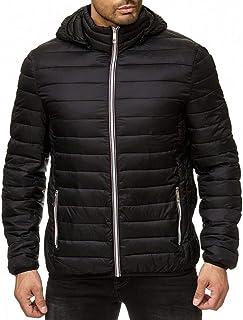 Men's Winter Zipper Hoodie Warm Down Jacket Packable Light Windproof and Warm Coat