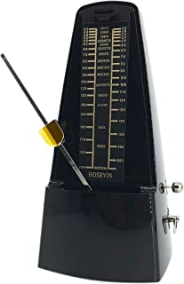 HOSEYIN Standard Mechanical Metronome, Universal Metronome for Piano, Guitar, Violin, and Other Instruments (black)