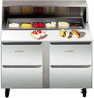 """Traulsen UPT6024-DD Dealer's Choice Compact Two Section Prep Table 60"""" Wide with (24) Pan Top Capacity & (4) Drawers"""