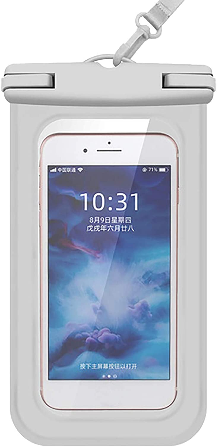 ZHANSANFM Floating Waterproof Phone Case Waterproof Pouch Cell Phone Dry Bag for Phone White