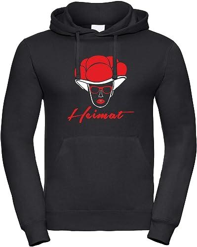 FEUER1 - Sweat-Shirt à Capuche - Homme Noir Noir