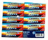 Elements 1.25 1 1/4 Size Ultra Thin Rice Rolling Paper with Magnetic Closure 10 Packs
