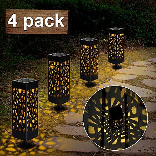 Nasharia Solarleuchte Garten Outdoor, 4 Stück Solar Gartenleuchte, Solarlampen für Außen LED Solar Taschenlampe IP65 Wasserdicht