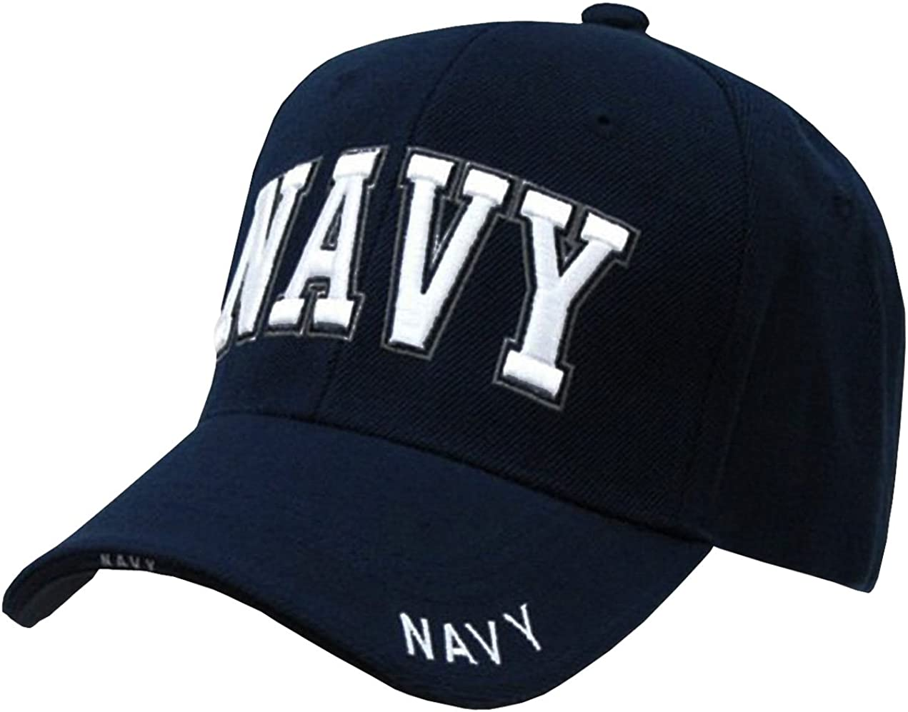 Rapid Dominance US Navy Text Embroidered High Crown Military Baseball Cap Hat