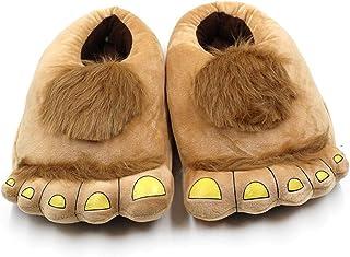 VKTY Pantoufles fantaisie pour homme Bigfoot - Pantoufles confortables et chaudes - Pour adulte