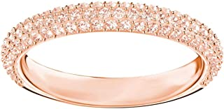 Swarovski Stone Mini Ring, Pink, Rose Gold Plated, Size 6