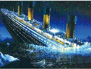 Wowdecor 5D Diamond Painting Kits, Titanic Ship Sunken Sea, Full Drill DIY Diamond Art Cross Stitch Paint by Numbers (Ship)