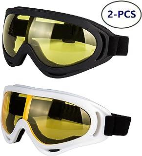 LJDJ Motorcycle Goggles - Glasses Set of 2 - Dirt Bike...
