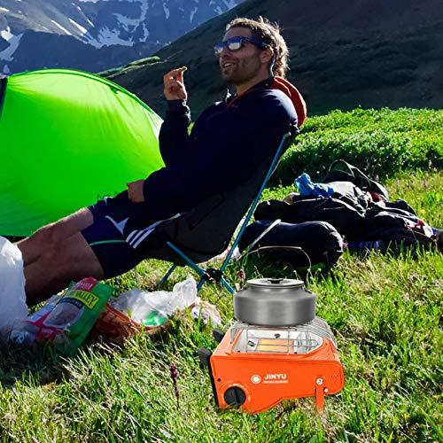 Uing Calentador De Gas Portátil para Acampar Al Aire Libre Calentador De Estufa De Camping Portátil Multifunción Calentador De Butano para Tienda De Campaña De Doble Uso Trendy