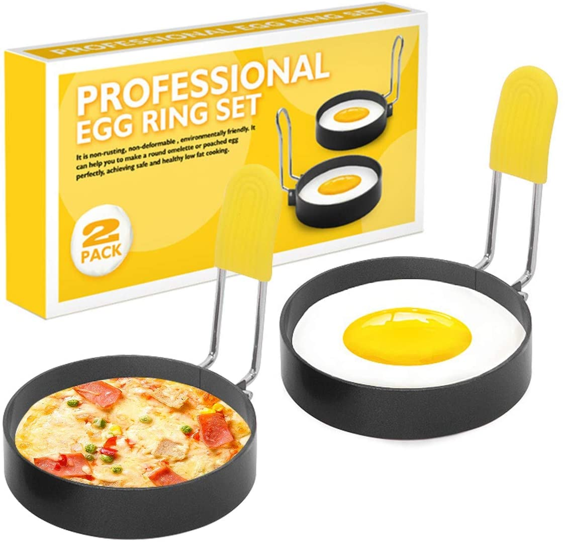 Eggs Rings 2 Max 69% OFF Pack Stainless Steel Set mart Egg Profes Cooking