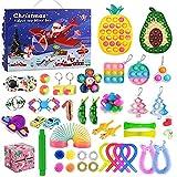 Qsurluck 2021 Christmas Countdown Adventskalender Figetsss Spielzeug-Sets,Fidget Spielzeug Set,für Zuhause, Schule, Büro, Party, Eltern-Kind-Spiel (45pcs Pack C)