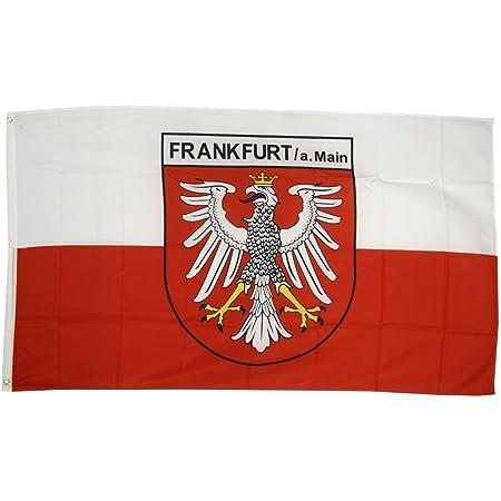 Flaggenfritze Fahne/Flagge Deutschland Stadt Frankfurt + gratis Sticker