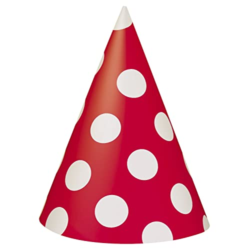 Unique Party 60392 - Red Polka Dot Party Hats 279107eedd08