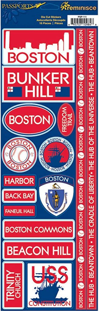 Reminisce Passports Combo Sticker, Boston