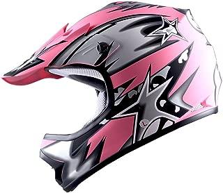 WOW Youth Kids Motocross BMX MX ATV Dirt Bike Helmet Star Matt Pink