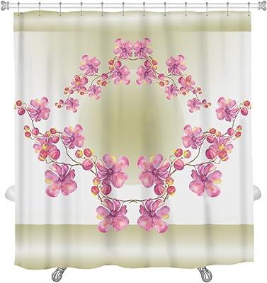 "Gear New Orchid Garland Shower Curtain, 74"" x 71"""