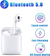 Bluetooth Headphones Built-in mic Wireless Earbuds in-Ear HD Sound Quality Earbud Touch Button Sports Waterproof Earphones?with Fast Charging Case? for Apple iPhone/Android airpods