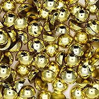 アクリル 半円 半球 マルポコ ラインストーン デコ電 ネイル デコパーツ 4mm ゴールド