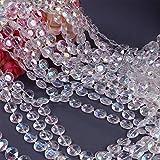 Cortinas de perlas acrílicas con diamantes, 20 m, para colgar en la puerta, rollo de cristal transparente, cadena de decoración para casa, dormitorio, cortina, Navidad, boda, fiesta (color AB)