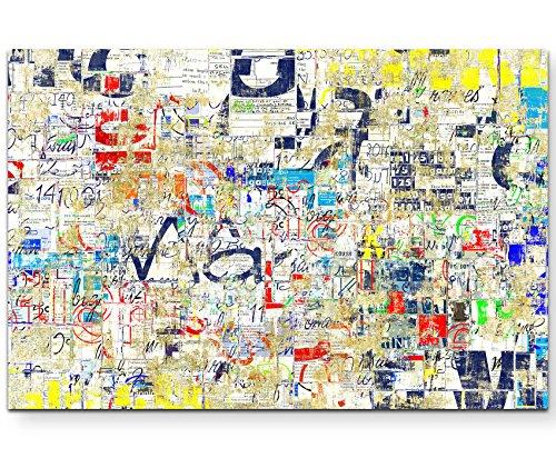 Paul Sinus Art Leinwandbilder | Bilder Leinwand 120x80cm Graffiti an Einer Straßenwand
