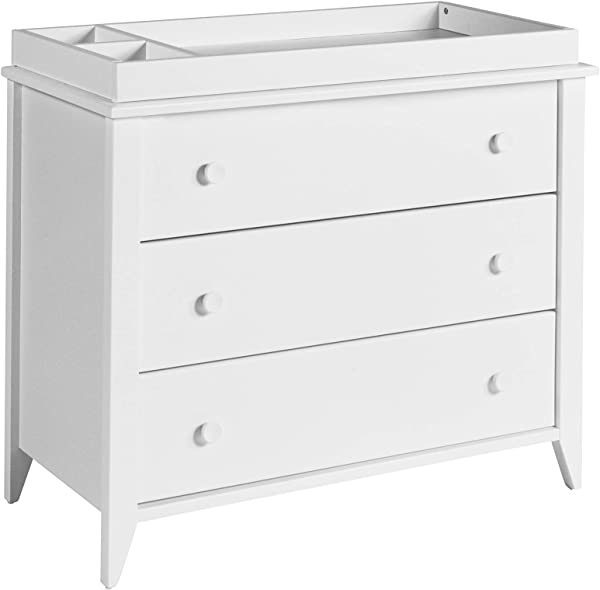 Babyletto Sprout 3 Drawer Changer Dresser With Removable Changing Tray White