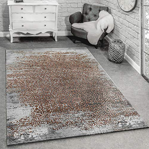 Paco Home Tapis De Créateur Moderne Tapis De Salon avec Motif Décorations Gris Beige, Dimension:80x150 cm
